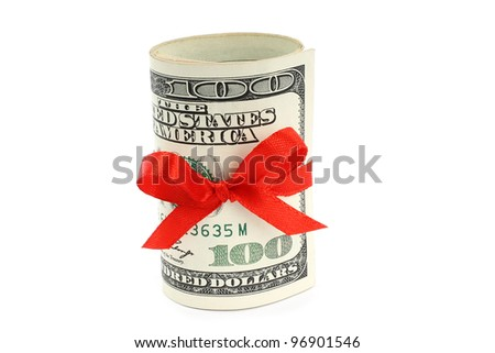 Money present on white background - stock photo