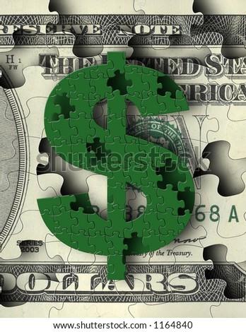 Money Puzzles - stock photo