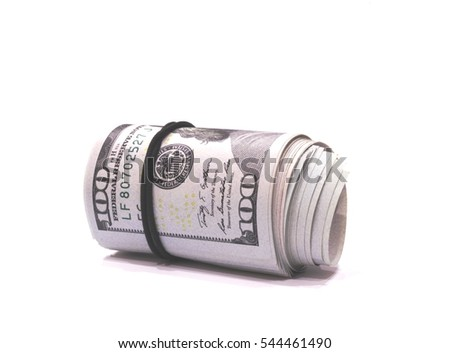 Money. Rolled into a tube of one hundred dollars banknotes