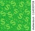 money seamless pattern.  illustration - stock vector