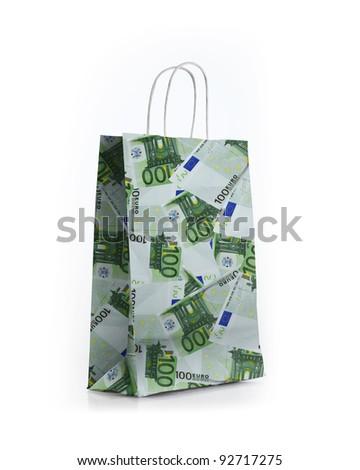 money shop bag - stock photo