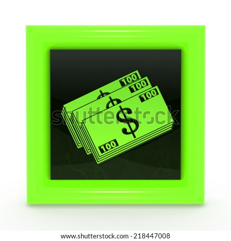 Money square icon on white background