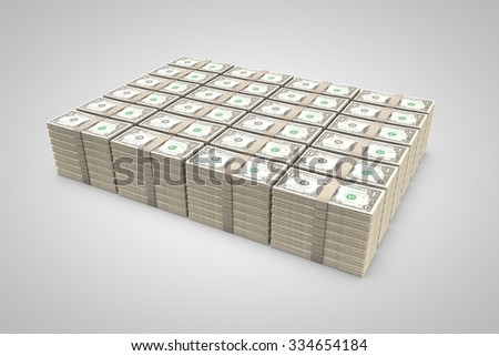 money stack - stock photo