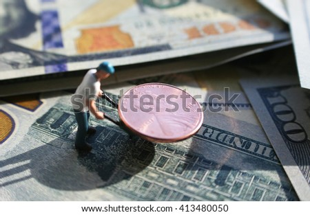 Money Stock Photo ( Have your money work for you ) - stock photo