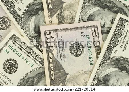 Money texture background - stock photo