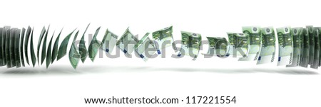 Money Transfer Concept (isolated with clipping path) - stock photo