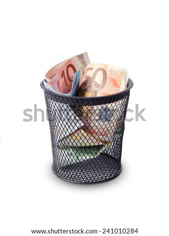 Money trash - stock photo