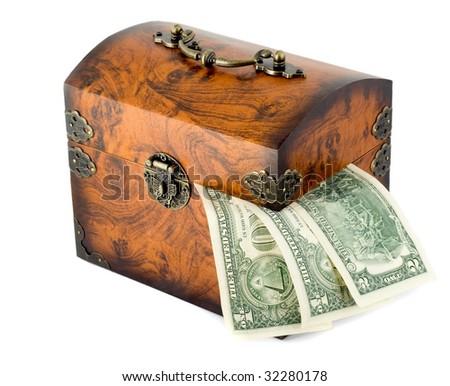 money treasure chest - stock photo