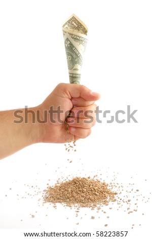 Money turns to ash - stock photo
