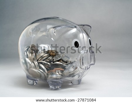 Moneybox - stock photo