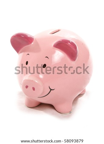 Moneybox cutout - stock photo