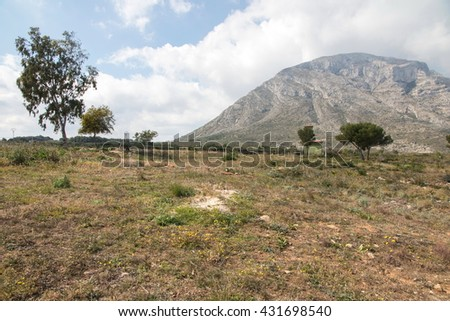 Mongo Montgo mountain Denia Javea Spain Mediterranean coast Alicante