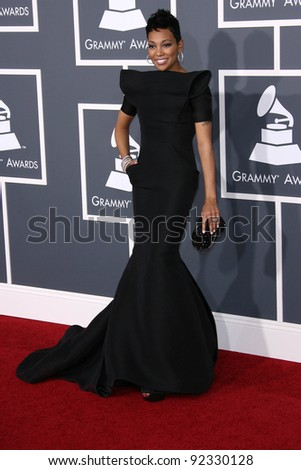 Monica  at the 53rd Annual Grammy Awards, Staples Center, Los Angeles, CA. 02-13-11