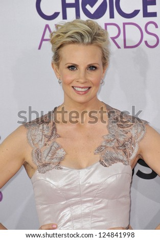 Monica Potter at the People's Choice Awards 2013 at the Nokia Theatre L.A. Live. January 9, 2013  Los Angeles, CA Picture: Paul Smith - stock photo