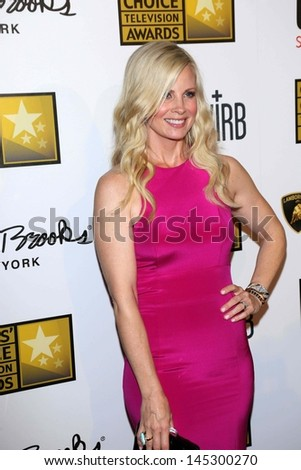 Monica Potter at the 3rd Annual Critics' Choice Television Awards, Beverly Hilton Hotel, Beverly Hills, CA 06-10-13 - stock photo