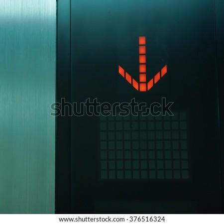 monitor in elevator - stock photo