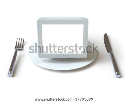 Monitor. In my portfolio there is collection of pictures of tablewares. You only enter IN a SEARCH the Photographer Name: PAVEL IGNATOV and keyword: TABLEWARE or MONITOR - stock photo