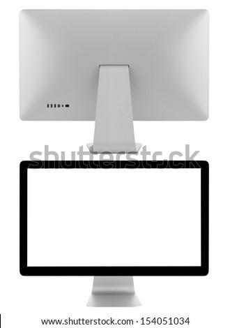 Monitor isolated on white background - stock photo