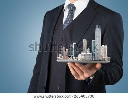Monitor, news, internet. - stock photo