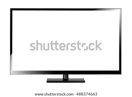 Monitor on white background