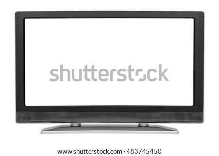 Monitor or TV isolated on white background.