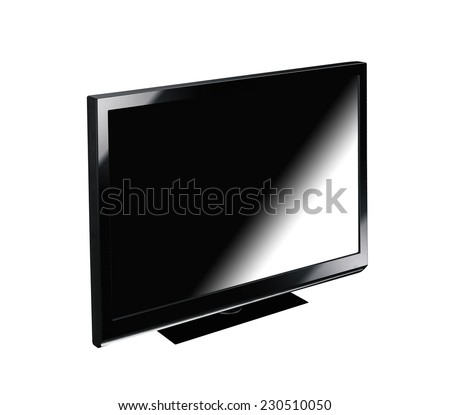 Monitor picture frame isolated on a white background - stock photo