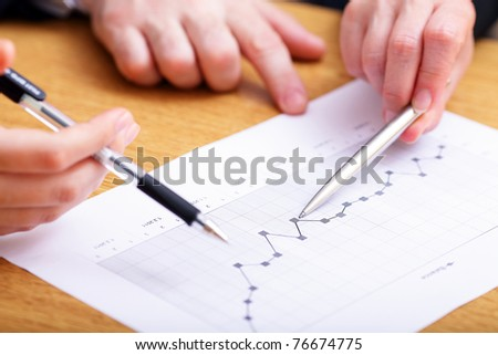 Monitoring company balance dynamics - stock photo