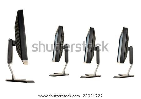 Monitors on a white background - stock photo