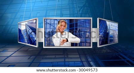 monitors with business architecture background