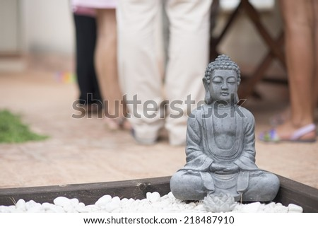 Monk statue - stock photo