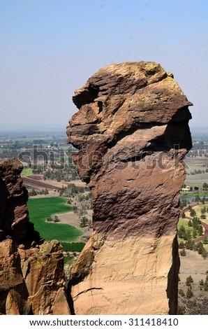 Monkey Face At Smith Rock - stock photo