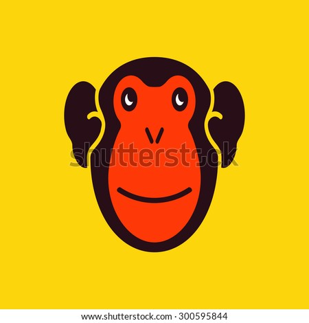 Monkey. JPEG version. - stock photo