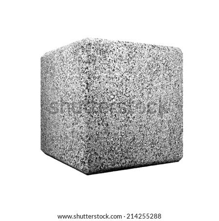 mono cube  -- illustration - stock photo