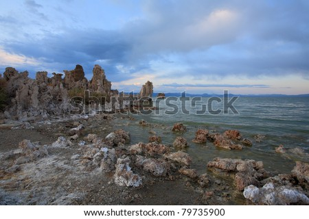 Mono Lake in California, USA - stock photo