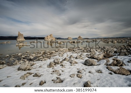 Mono Lake in Winter Time