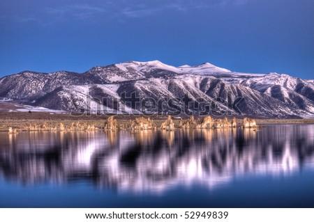 Mono Lake Reflection - stock photo