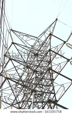 Mono pole transmission line tower