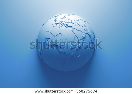 monochrome abstract background with earth globe, continets are with countries randomly extruded - stock photo
