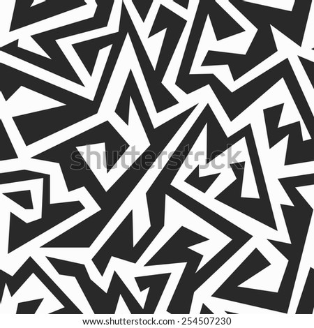monochrome ancient seamless pattern (raster version)