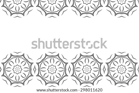 Monochrome background. Blac abstract elements on white background