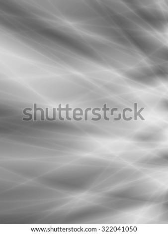 Monochrome background gray abstract energy flow design - stock photo