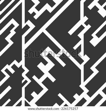 monochrome circuit seamless texture (raster version)