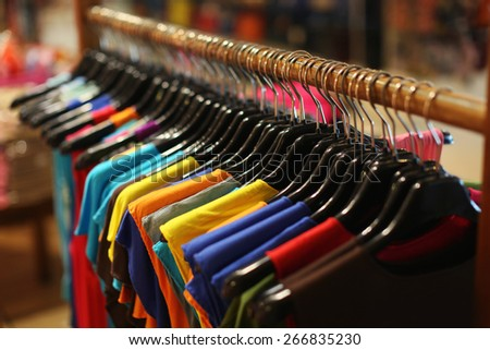 monochrome colored clothing - stock photo