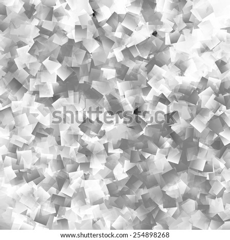 Monochrome cubism abstract illustration - stock photo