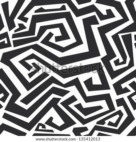 monochrome curved lines seamless texture (raster version)