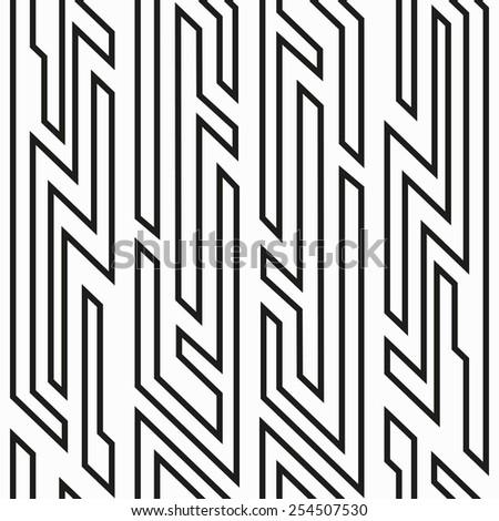 monochrome geometric seamless pattern (raster version) - stock photo