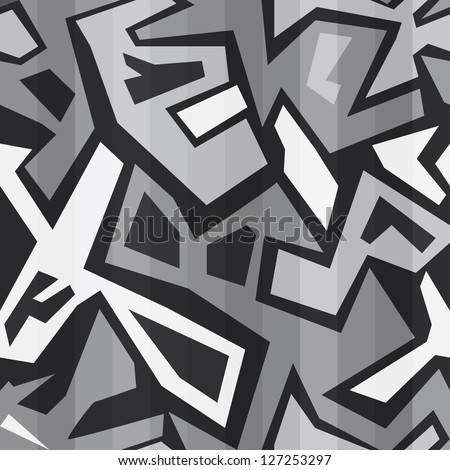 monochrome graffiti seamless (raster version)