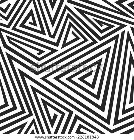 monochrome illusion seamless pattern (raster version) - stock photo
