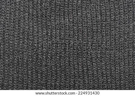Monochrome knitting wool texture background