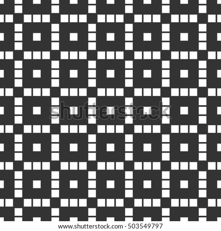 Monochrome repeatable pattern with structure of squares